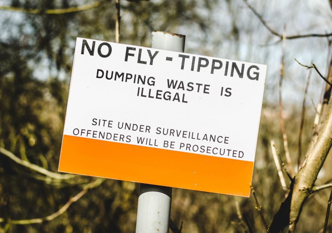 Illegal waste dumping